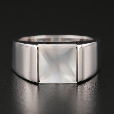 """Cartier """"Tank"""" 18K Gold Moonstone Ring"""