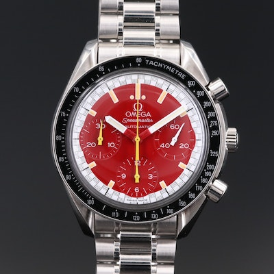 Omega Speedmaster Reduced Michael Schumacher Stainless Steel Wristwatch