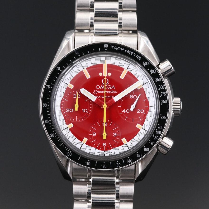 Omega Speedmaster Reduced Michael Schumacher Stainless Steel Wristwatch