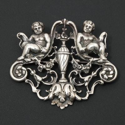 Guglielmo Cini Sterling Silver Brooch