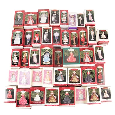 "Hallmark ""Keepsake"" Barbie Edition Christmas Ornaments in Original Packaging"