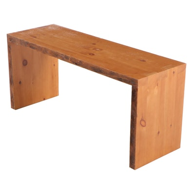 Modernist Style Pine Side Table