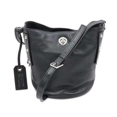 Marc by Marc Jacobs Black Grained Leather Bucket Bag