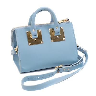 Sophie Hulme Mini Albion Light Blue Leather Crossbody Bag