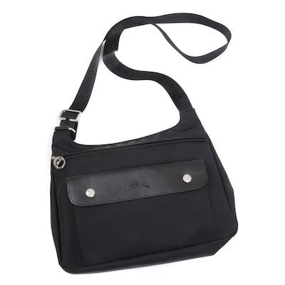 Longchamp Black Nylon and Leather Crossbody Bag