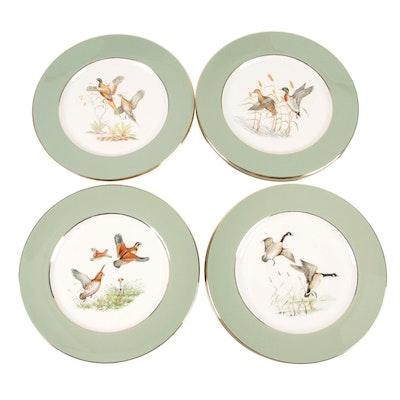 Eliot Bone China Dinner Plates with Game Bird Scenes