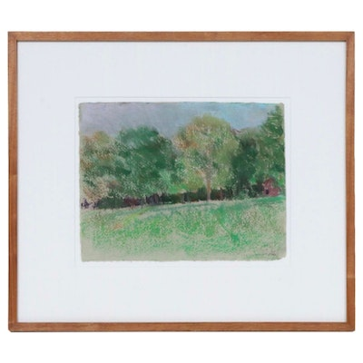 """Larry Horowitz Pastel Drawing """"Fall Colors,"""" Late 20th Century"""