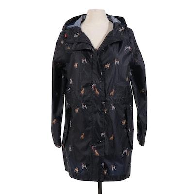 Joules Right As Rain Collection Dog Print Nylon Rain Jacket