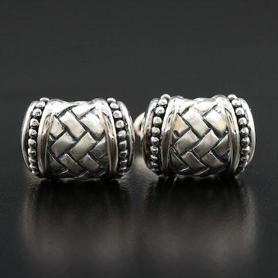 Scott Kay Sterling Silver Basket Weave Cufflinks