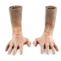 "Victoria Jensen Hyperrealistic Ceramic Hand Sculptures ""Now What"""