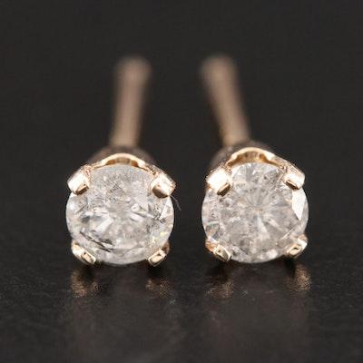 14K Yellow Gold 0.31 CTW Diamond Stud Earrings