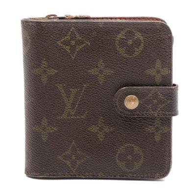 Louis Vuitton Monogram Canvas Compact Zip Bifold Wallet