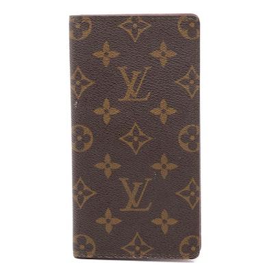 Louis Vuitton Monogram Coated Canvas Checkbook Wallet