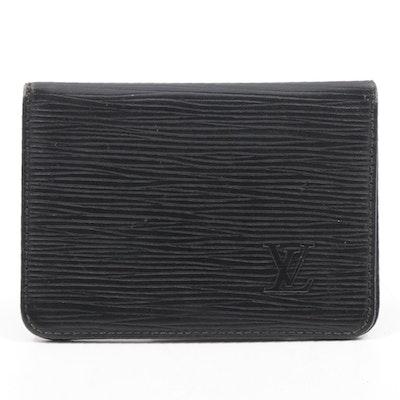 Louis Vuitton Black Epi Leather Card Wallet