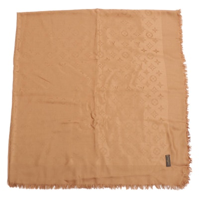 Louis Vuitton Monogram Silk and Wool Blend Scarf