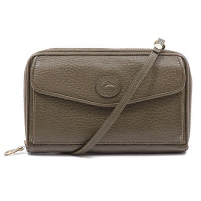Dooney & Bourke Olive All-Weather Pebbled Leather Crossbody Bag