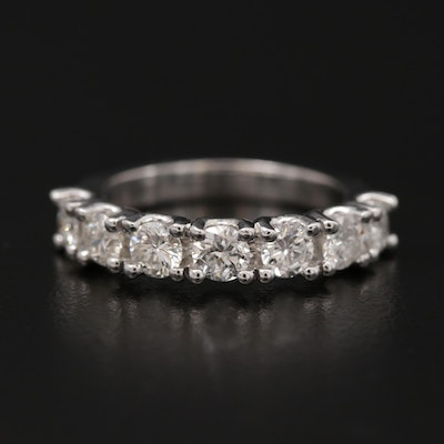 14K White Gold 1.67 CTW Diamond Band