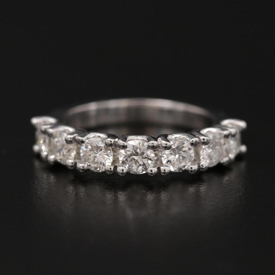 14K White Gold 1.67 CTW Diamond Band