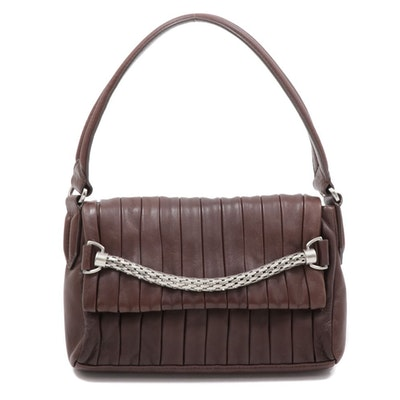 Botkier Pleated Leather Shoulder Bag