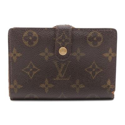Louis Vuitton Monogram Canvas Compact Clutch Snap Wallet