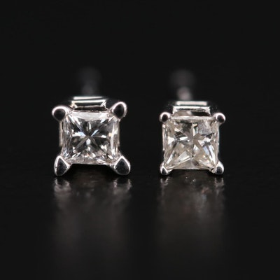 14K White Gold 0.20 CTW Diamond Studs