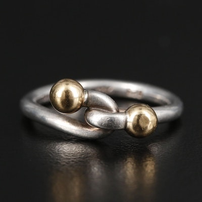 Tiffany & Co. Sterling Silver and 18K Yellow Gold Ring