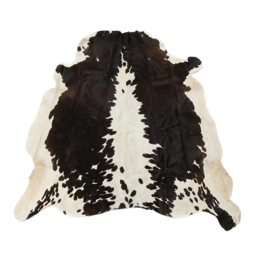 4'10 x 5'4 Natural Cow Hide Rug