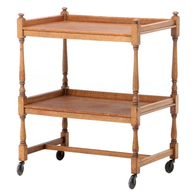 Oak Tiered Shelving Cart, 20th Century