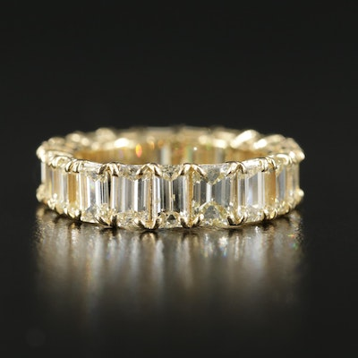18K Yellow Gold 4.59 CTW Diamond Eternity Band