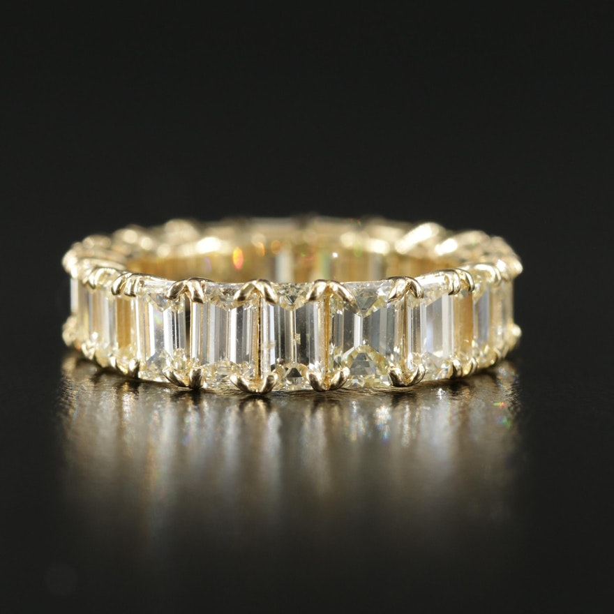 18K Yellow Gold 4.59 CTW Diamond Eternity Band