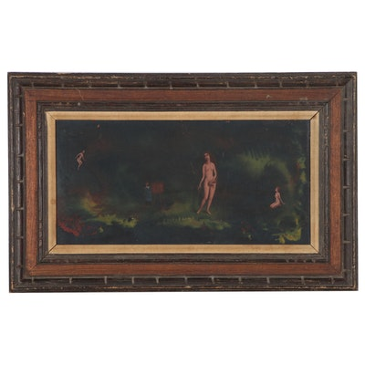 George Rhoads Oil Painting of the Birth of Venus, 1967