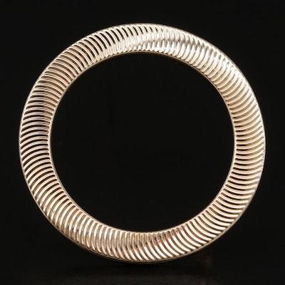 14K Yellow Gold Circular Brooch