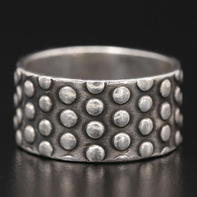 Mexican Sterling Silver Studded Band