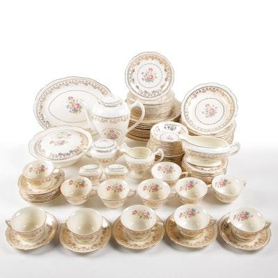 """Stetson """"American Beauty"""" 22 Karat Gold Trimmed Porcelain Dinnerware"""