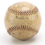 Cincinnati Reds, Boston Bees and Brooklyn Dodgers Signed Goldsmith Baseball