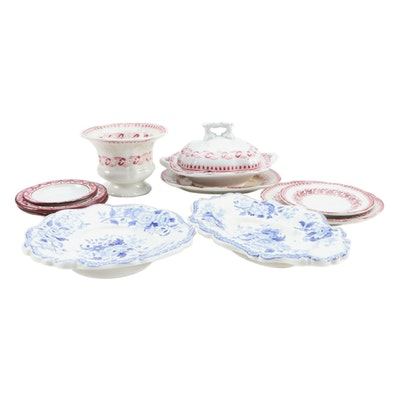 """Minton """"Dresden Flowers"""", Pearlware and other Miniature Tableware, 1820-1865"""