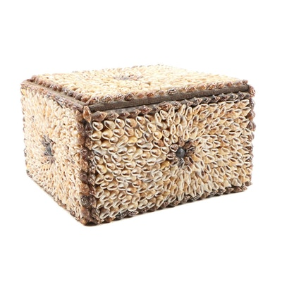 Shell Motif Decorative Trinket Box, Late 20th Century