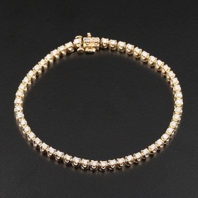 14K Yellow Gold 1.54 CTW Diamond Line Bracelet