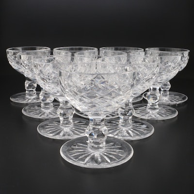 """Waterford Crystal """"Powerscourt"""" Footed Dessert Bowls, Mid to Late 20th Century"""