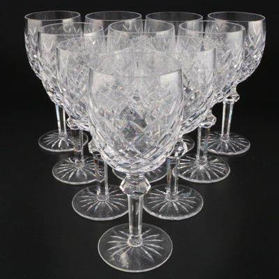 "Waterford Crystal ""Powerscourt"" Water Goblets, Mid to Late 20th Century"