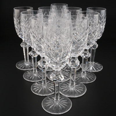 "Waterford Crystal ""Powerscourt"" White Wine Glasses, Mid to Late 20th Century"