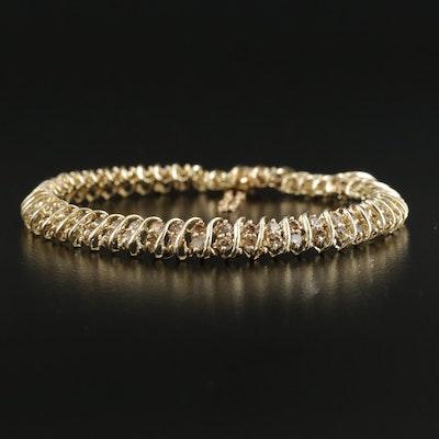 10K Yellow Gold 3.00 CTW Diamond Bracelet