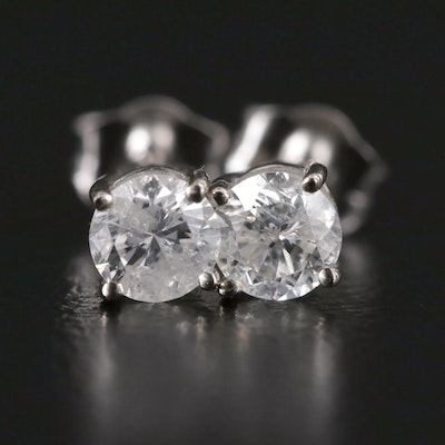 14K Gold 0.40 CTW Diamond Solitaire Stud Earrings