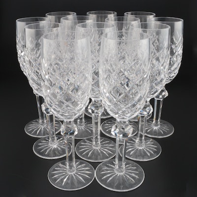 "Waterford Crystal ""Powerscourt"" Champagne Flutes, Mid to Late 20th Century"