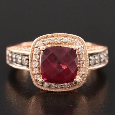 Le Vian 14K Rose Gold Garnet and Diamond Ring