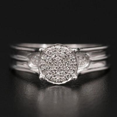 Shy Creations 14K Gold Pavé Diamond Ring