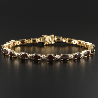 Garnet and Diamond Bracelet