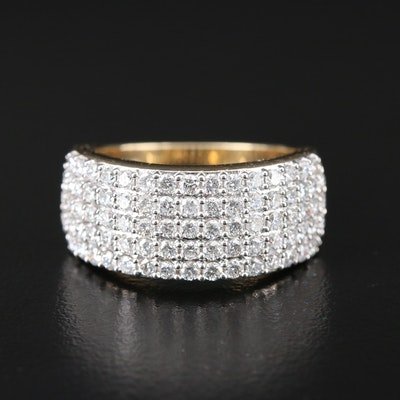 14K Gold 1.50 CTW Diamond Multi-Row Band