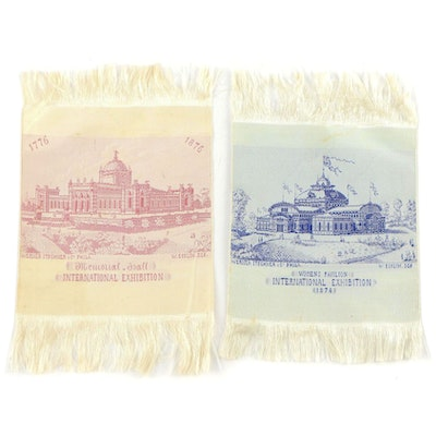 1876 Centennial International Exhibition Silk Stevengraph Memento