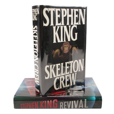 """First Edition, First Printings """"Skeleton Crew"""" and  """"Revival"""" by Stephen King"""